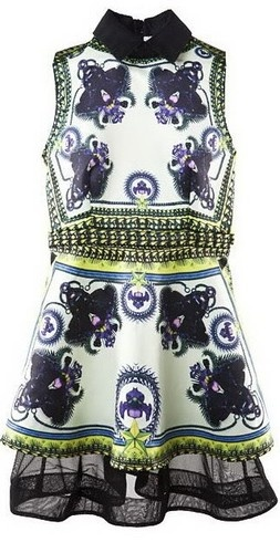 Zara Nasty Gal Givenchy Runway Leopard Panther Print Iris Floral Dress