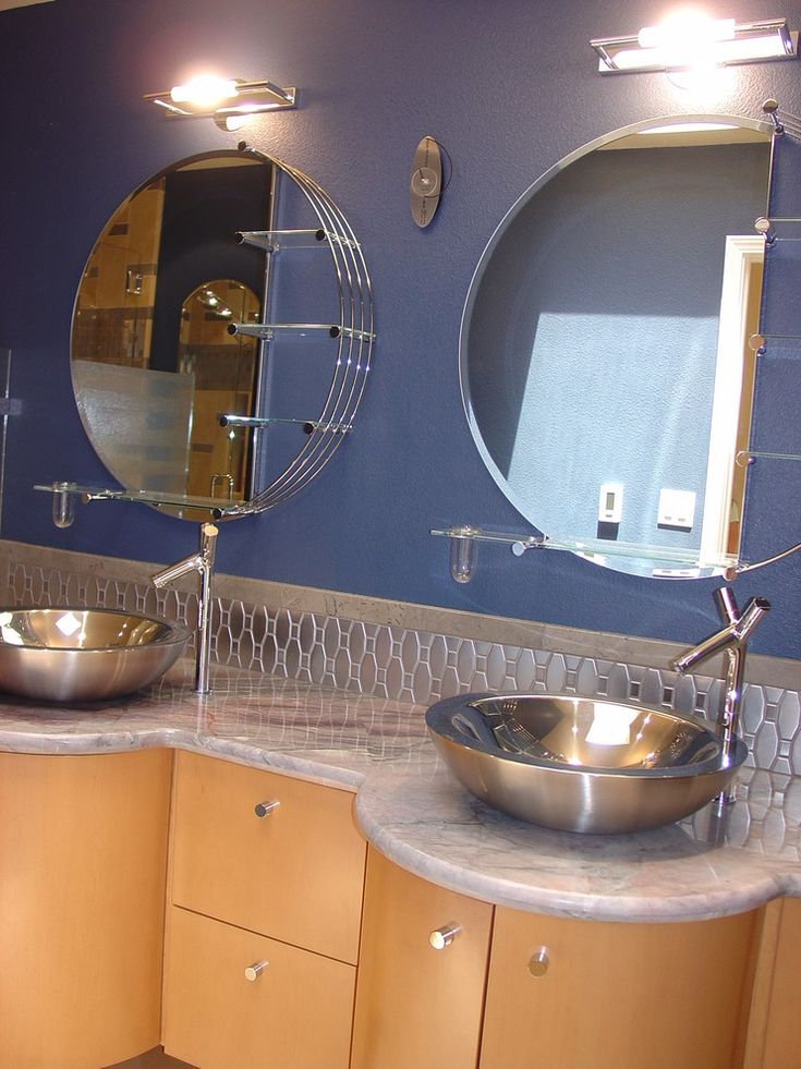Good Mid Century Modern Bathroom Vanity Bathroom Contemporary With Beautifully  Detailed Chrome Mirrored