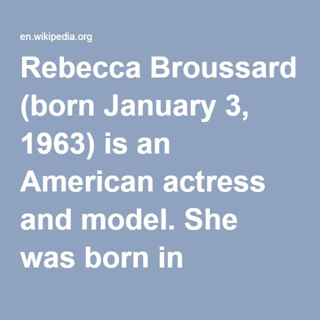 Rebecca Broussard-- (born 01/1963) is an American actress and model. She was born in Louisville, Kentucky. Broussard married Richard Perry in 1987, but the couple divorced the following year. She has two children with actor Jack Nicholson: Lorraine Nicholson (born 1990) and Raymond Nicholson (born 1992).