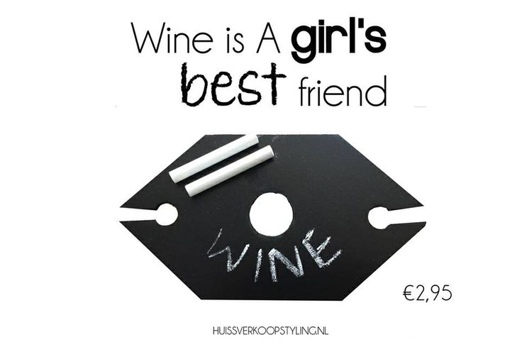 HUISS for HOME  Wijn houder met krijtje