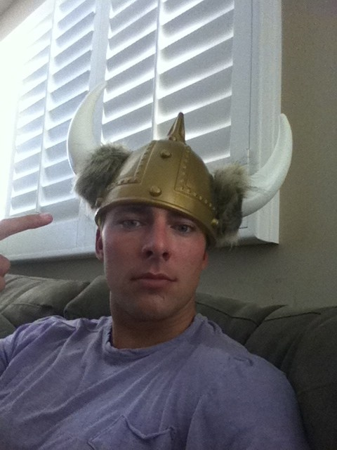 Joffrey Lupul: Plastic Viking edition. And THIS is why he is perfect! Hot, hockey playin, goofball!!!!
