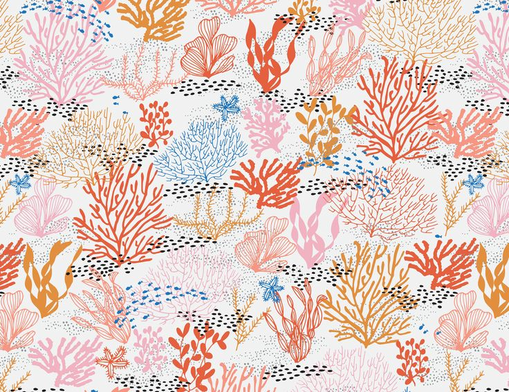 Coral Reef Seamless Pattern by origamiprints on @creativemarket
