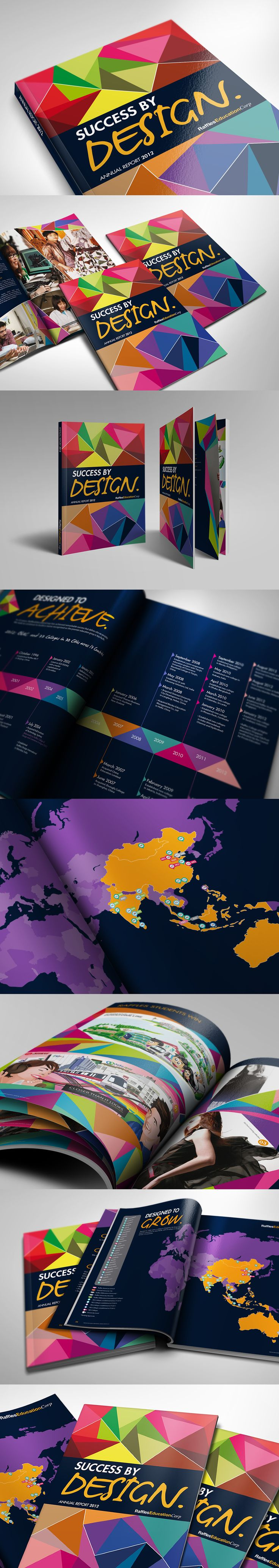 An eye-catching annual report design filled with quirky layouts. Colourful inside-out! #annualreport #print #brochure #report #colorful #color #cover #printmedia #layout #map #infographic #fashion #singapore #sg