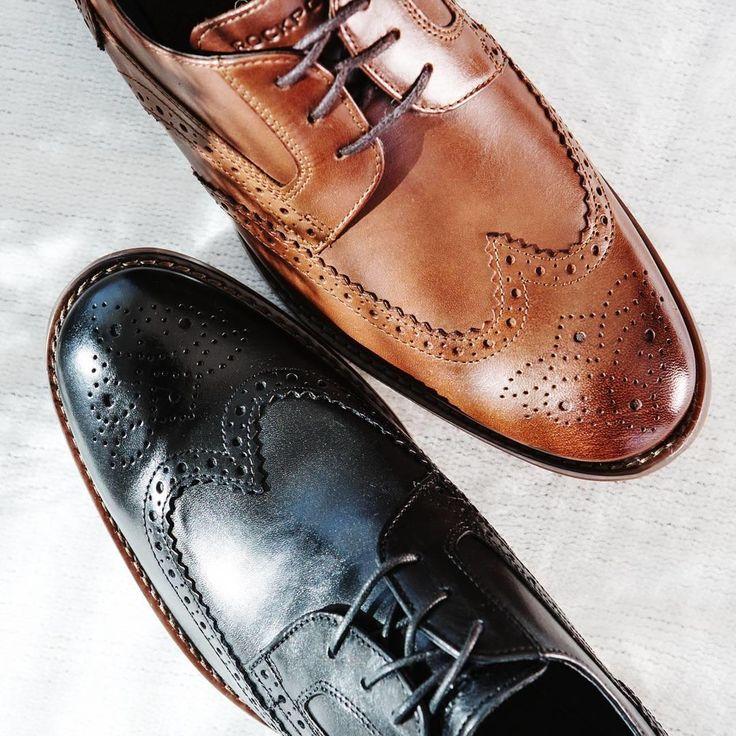 A (dapper) man's closet staple: black and tan wingtips.