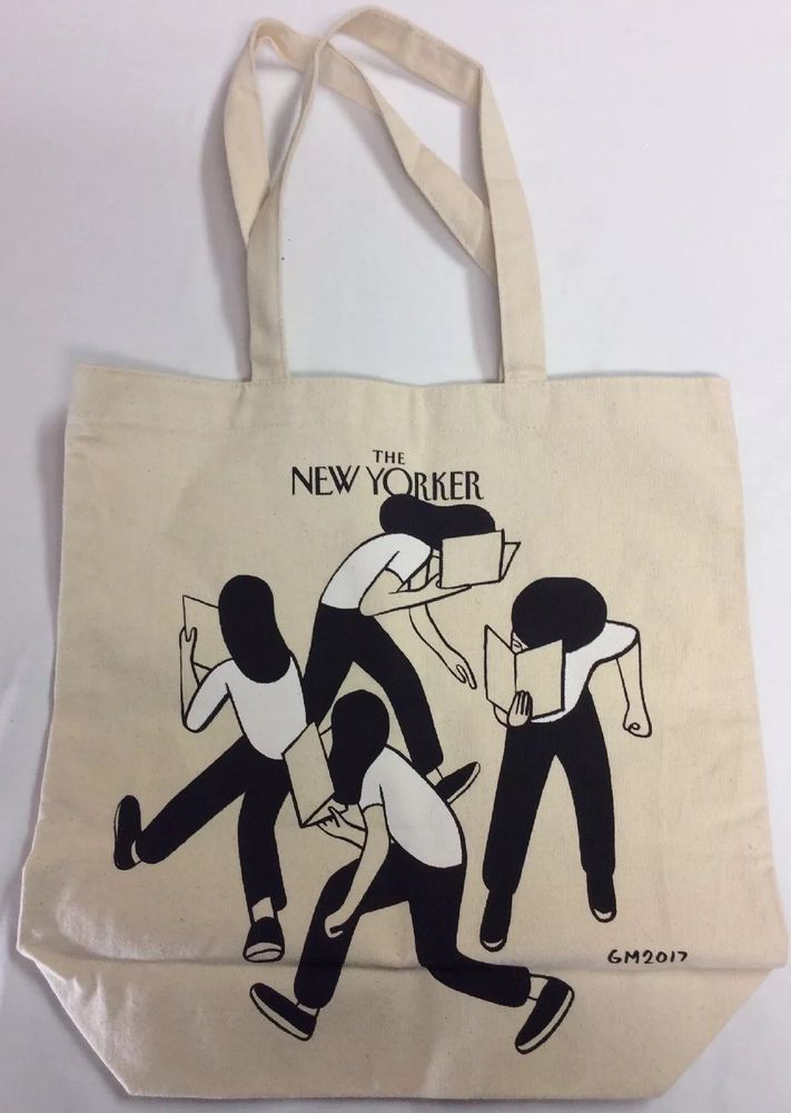 The New Yorker Tote Bag Limited Edition Canvas 15x15