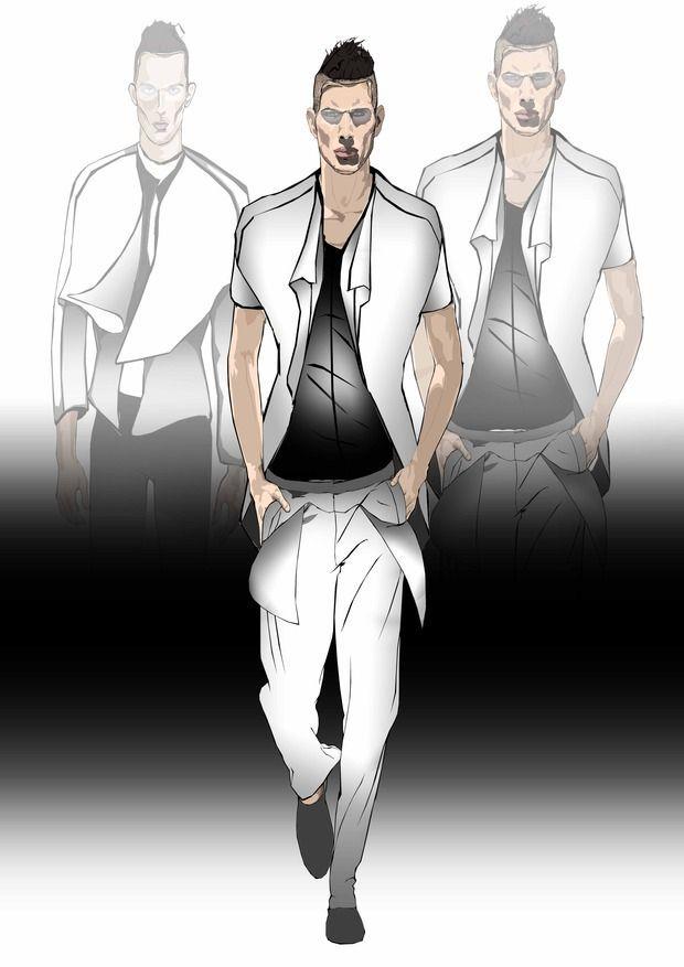 Men fashion sketches