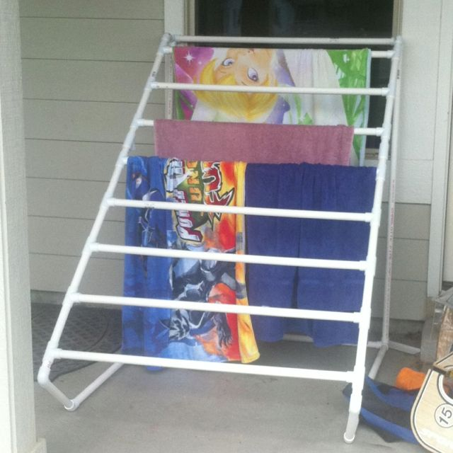 Pvc Towel Rack Fun At The Pool Pinterest Towel