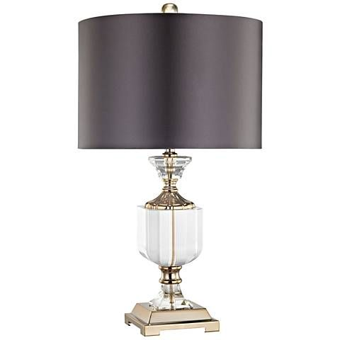 Highclere clear and gold table lamp