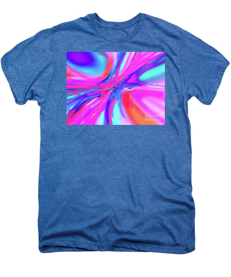 Soft Flowing Brilliant Areas Of Vibrant Color Mix To Create An Original Artwork Once A Painting Stage Now A Digital Artwork.pink Dominates This Dynamic Contemporary Creation Men's Premium T-Shirt featuring the digital art Splash by Expressionistart studio Priscilla Batzell