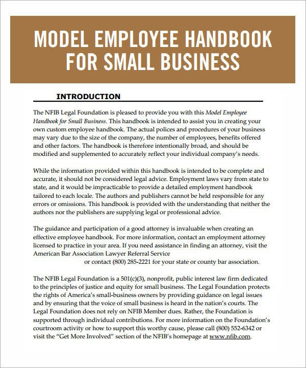 Employee Handbook Sample Employee Handbook Template Employee Handbook Employee Management