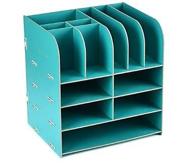 Органайзер на стол - МДФ - бирюзовый, 32,5х25х30 см