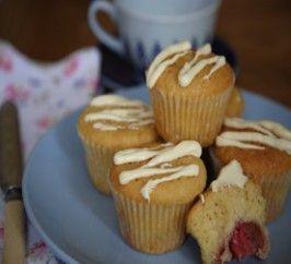 White Chocolate Strawberry Centre Muffins