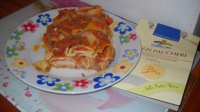 Pasticcio al forno coi Mezzi Paccheri Bio e scaloppe di maiale con Chutney alla frutta!http://iprofumidellamiacasa.blogspot.it/2013/11/pranzo-ricco-coi-prodotti-della-tasty.html