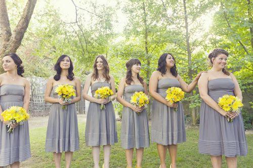 Yellow and Grey Wedding @Navil Salazar Navarrete makes me think of u