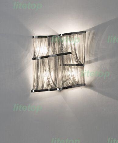 252.00$  Watch here - http://ali6qt.shopchina.info/go.php?t=32424100286 - terzani atlantis wall light aluminum chain wall sconce modern novelty lighting fixture chain iridescent wall lamp project light 252.00$ #bestbuy