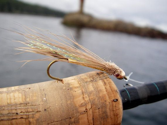Fly fishing 6 Salmon flies Rolled Muddler by Ayuflytyer on Etsy