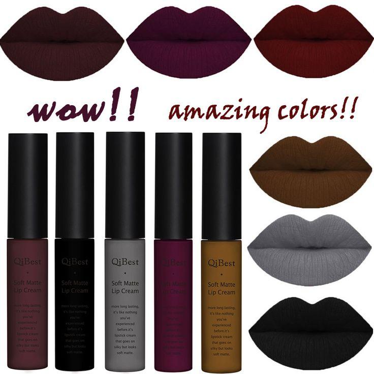 Brand Beauty Lips Makeup Waterproof Lip Gloss Matt Lip Stick Cosmetic Long Lasting Nude Pigment Velvet Liquid Lipstick Matte Lot