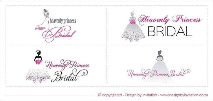 Heavenly Princess Bridal Logo Design Options © www.designbyinvitation.co.za