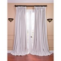 Off White Velvet Blackout Extra Wide Curtain Panel | Overstock.com