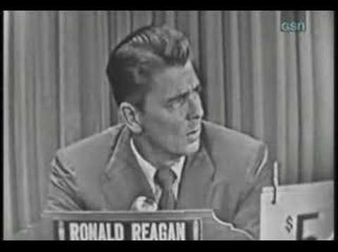 What's My Line? - Ronald Reagan {way too funny!}