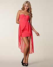 Strapless Drop Back Dress - Ax Paris - Pink - Party dresses - Clothing - NELLY.COM UK