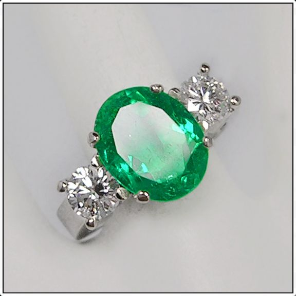 Colombia Emerald Diamond Ring 18K/ SOLD