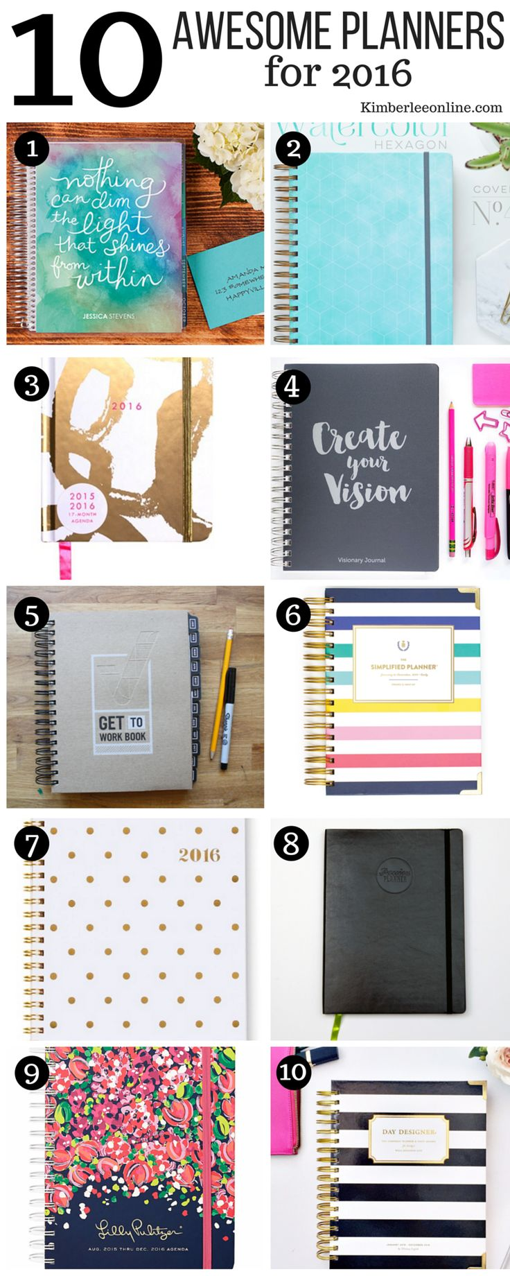 The 10 best planners for women for 2016. Just ordered the #GetToWorkBook 2016