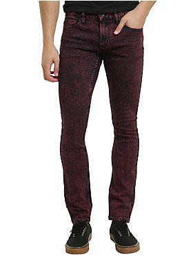 Red, hot & super skinny // XXX Rude Red Overdye Super Skinny Jeans