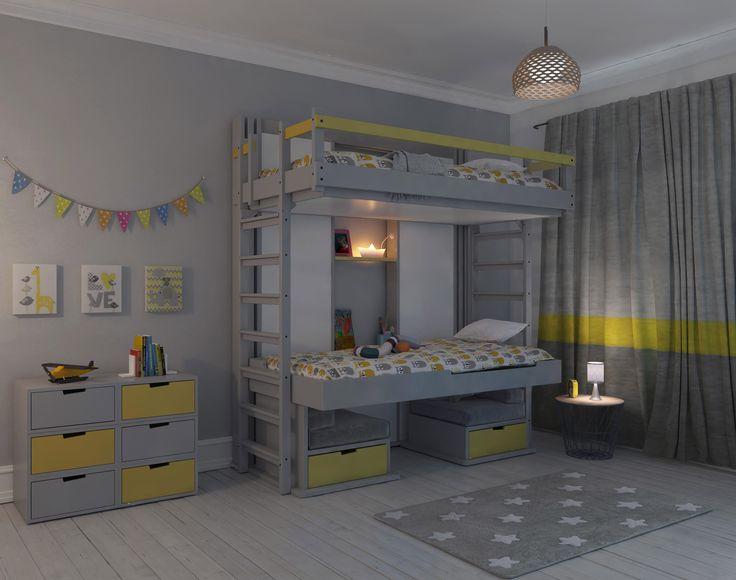 les 25 meilleures id es de la cat gorie lit superpos escamotable sur pinterest lit superpos. Black Bedroom Furniture Sets. Home Design Ideas