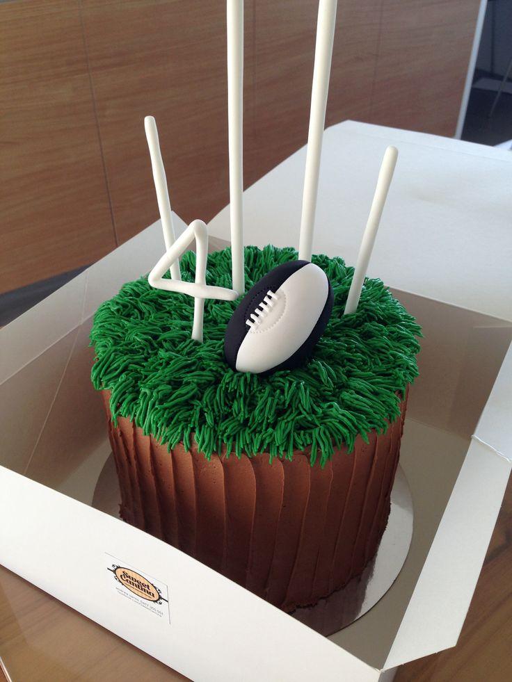AFL Footy 40th birthday cake.