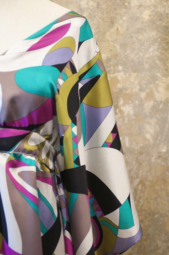 Dettaglio stoffa Caftano AriannaBiondoDesigner
