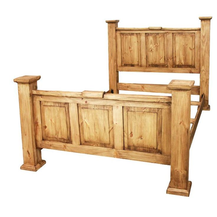 This Very Affordable Solid Pine Bed Belongs In Your Hacienda! There Are  Four Posts Where You Can Hang Your Hat, A Robe, Or Your Lasso!