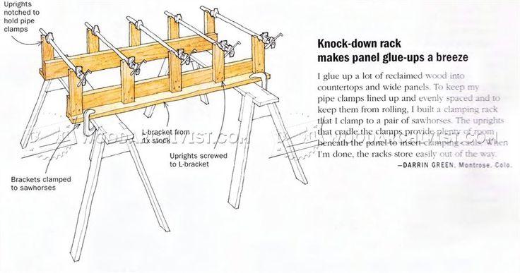 Knock-Down Rack Makes Panel Glue Ups a Breeze - Panel Glue Up Tips, Jigs and Techniques   WoodArchivist.com