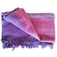 Grande Tenture Kérala plaid couvre-lit Violet Améthyste