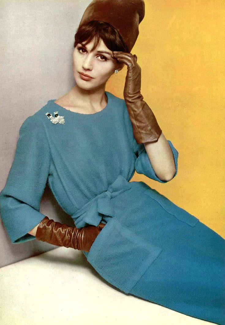 Modeled for Lanvin-Castillo, photographed by Philippe Pottier (1962)