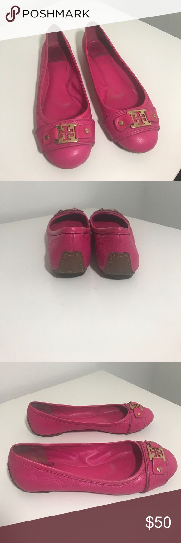 Tory burch flats Pink. Size 8. Normal wear and tear. Price firm unless bundled.1031. Tory Burch Shoes Flats & Loafers