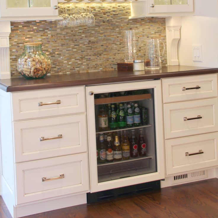 No Home Bar Is Complete Without The Refrigerator Built