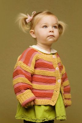 Cute little cardigan; maybe different color combination though.