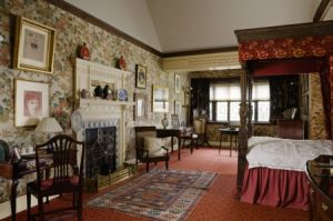 The Indian Bird Room at Wightwick Manor, Wolverhampton, West Midlands