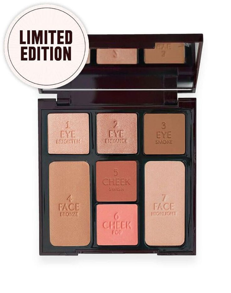 Makeup palette with rose-gold & bronze tones
