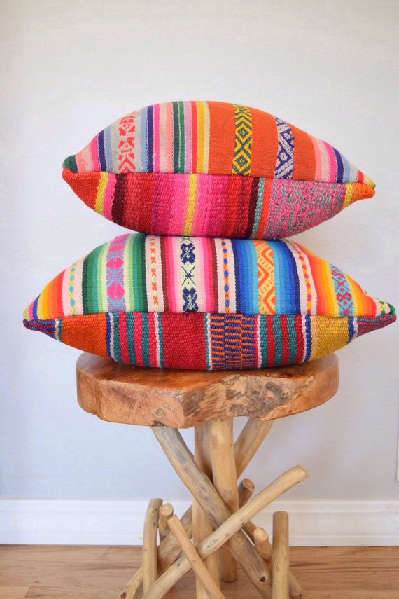 Decorative Peruvian Pillow by JamieLaurenDesigns on Etsy