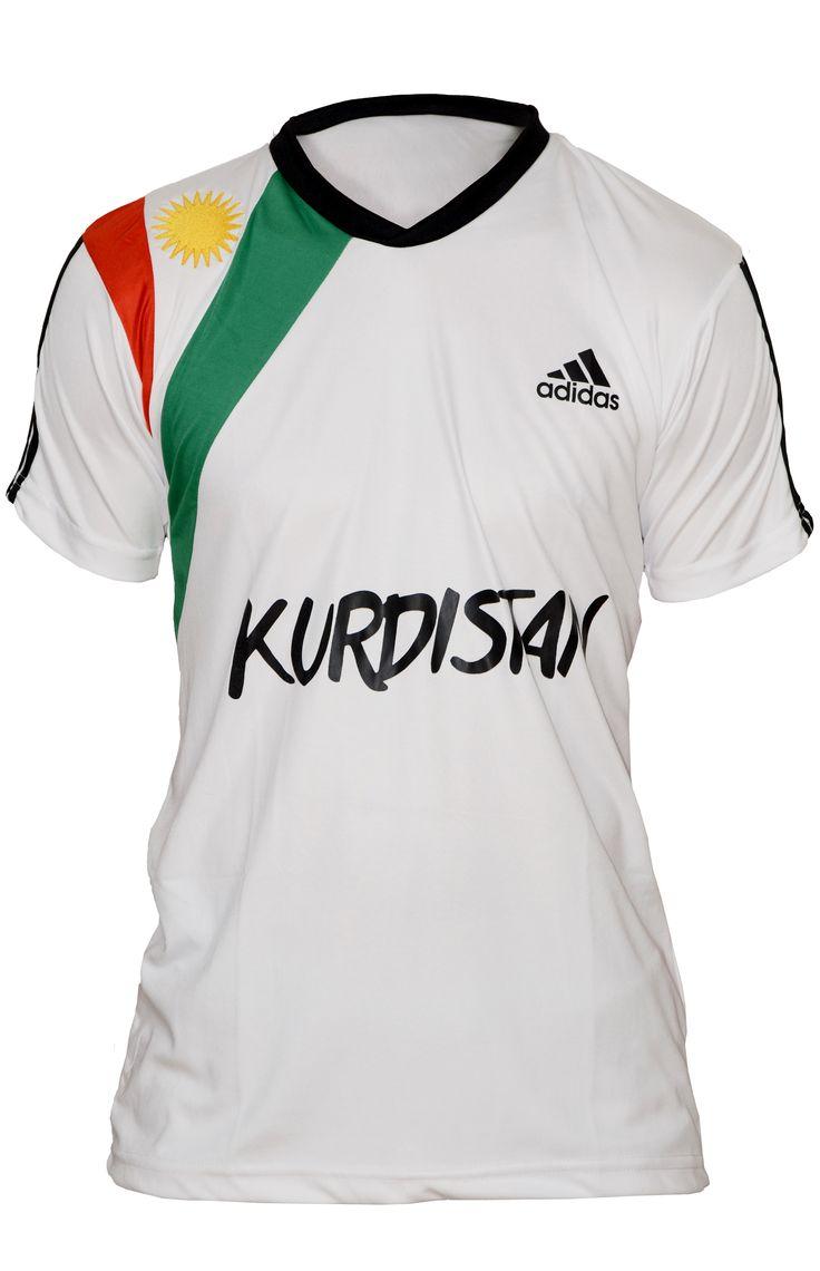 Kurdistan Flag Shirt White | Have a taste of your Kurdish pride