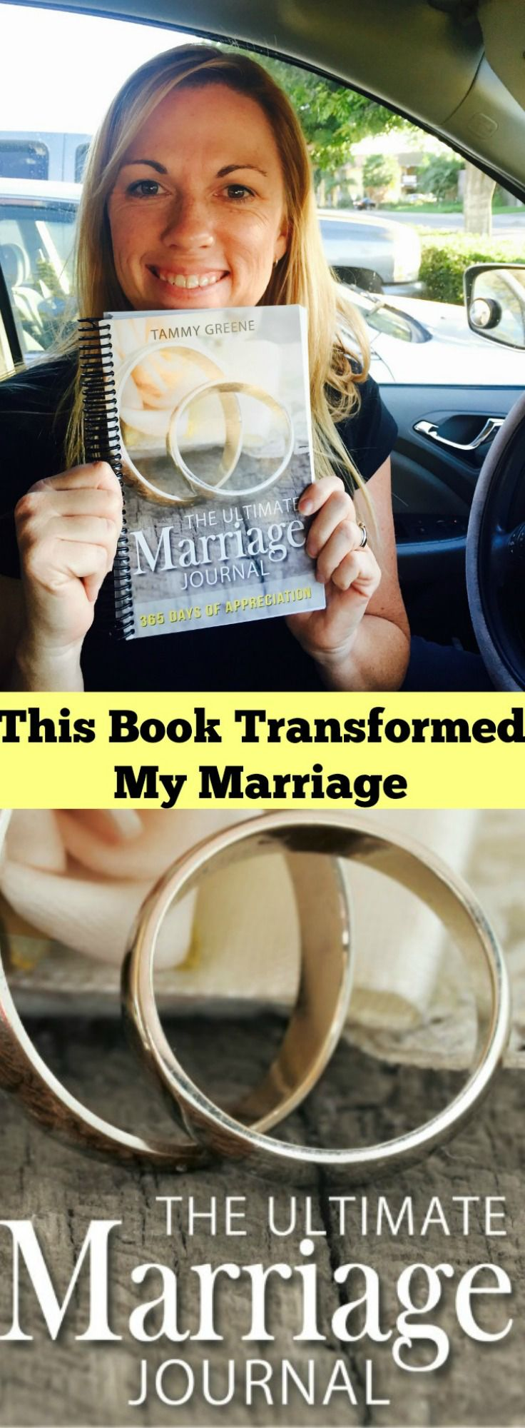 This book saved my marriage!  The Ultimate Marriage Journal will help transform the soul of your marriage into one of daily appreciation and gratitude.  Every marriage needs this!