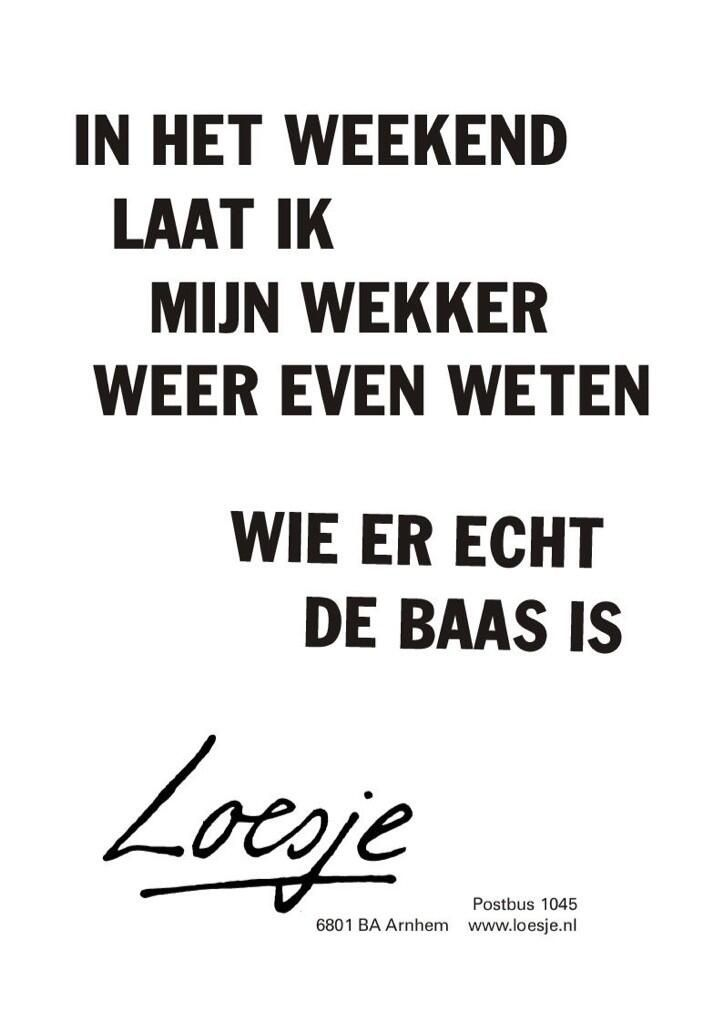 loesje spreuken weekend Hoera, t is weer weekend | Loesje | Pinterest loesje spreuken weekend