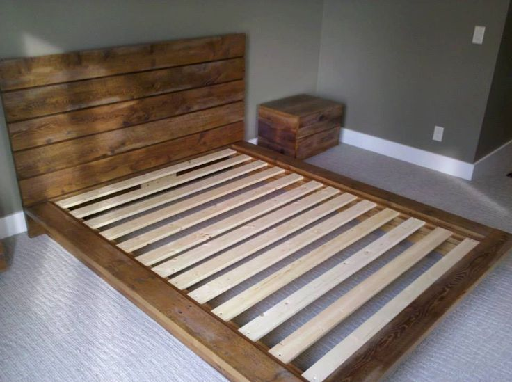 Custom Queen Sized Rustic Platform Bed by GreenandSons on Etsy