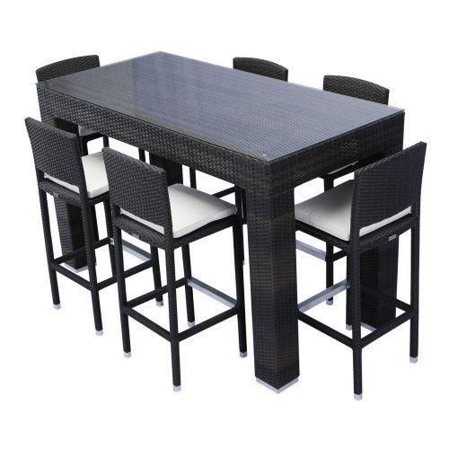 Source Outdoor Bar Height Patio Dining Set Seats 6