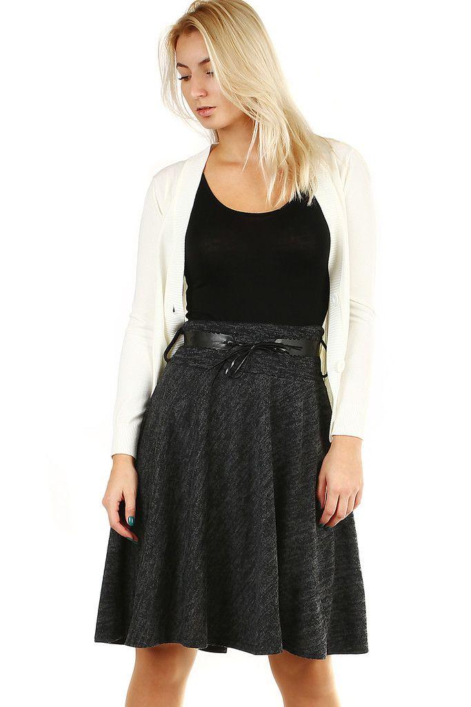 986b77793906 Zimní áčková sukně žíhaný vzor - koupit online na Glara.cz  glara  fashion