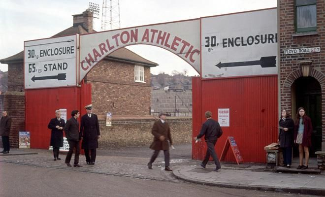 Main entrance at the Valley stadium,home of Charlton Athletic Football Club (c.1970's)