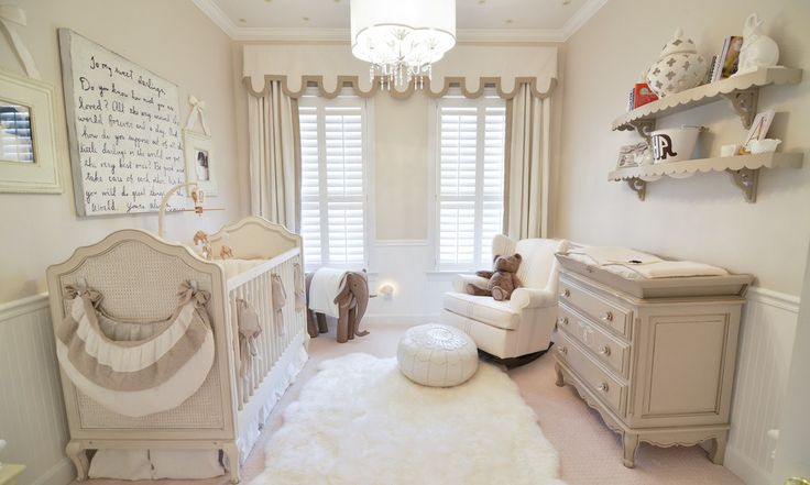 Beautiful Baby Boy Nursery Themes look Orlando Transitional Nursery Decoration ideas with baby nursery Brown and beige Cornice Board crib Custom Cabinetry custom drapery Custom interior