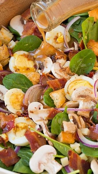 Spinach Salad with Warm Bacon Dressing | Recipe | Warm, Classy and ...
